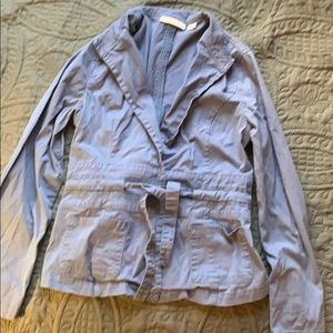 Coldwater Creek size 4 draw waist blue jacket